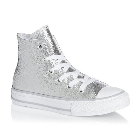 e5df08155a54 Converse Other - Leather Metallic High Top Converse